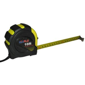 10 metre x 25 mm wide RETRACTABLE LOCKING TAPE MEASURE with BELT CLIP tool diy